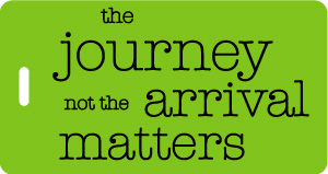 The journey not the arrival luggage tag